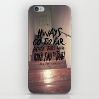 camus iPhone & iPod Skins featuring Camus on Finding the Truth by Josh LaFayette