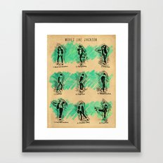 Moves Like Jackson (MOVE LIKE COLLECTION) Framed Art Print