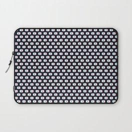 TikTok app button. Pattern design - Dark version Laptop Sleeve