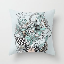 Soft summer Throw Pillow