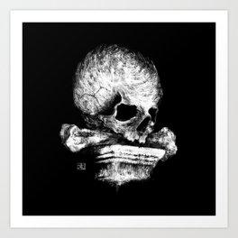 Skull on Pedestal Art Print