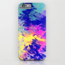 Neon Mimosa Inspired Painting iPhone Case