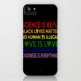 Sience is Real Love iPhone Case