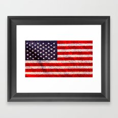 Stained Glass Old Glory Framed Art Print