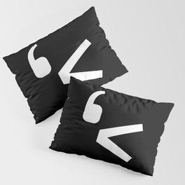 emotikwack black Pillow Sham