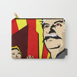 Stalin portrait red scare soviet union poster Carry-All Pouch