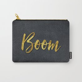 Boom gold foil text Carry-All Pouch