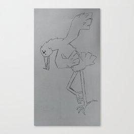 bird dancing org Canvas Print