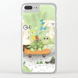 Fast as the rabbit Clear iPhone Case