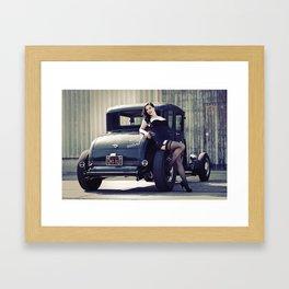 Hot Rod Pin-Up Framed Art Print