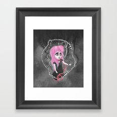 Absent-mindedly getting lost in the dark Framed Art Print