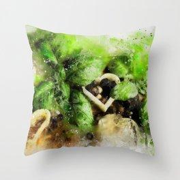 Basil Pepper Peppercorns Throw Pillow