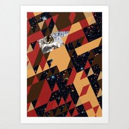 Tesseract Collision Art Print