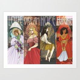 Les Mis Ladies Art Print