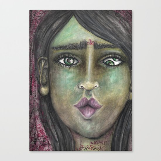 Double Eye Canvas Print