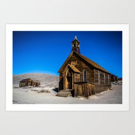 The Chapel Of Bodie Art Print