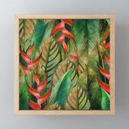 Painted Jungle Leaves 2 Framed Mini Art Print