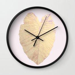 Gold leaf - heart Wall Clock