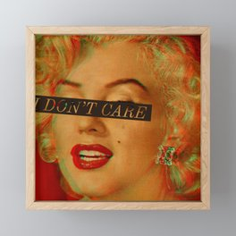 I DON'T CARE Framed Mini Art Print
