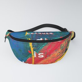 Reading is Manly as F<ck - RAINBOW - LARGE Fanny Pack