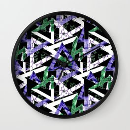 Abstract geometric pattern  8 Wall Clock