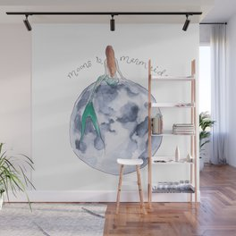 The Mermaid & The Moon Wall Mural