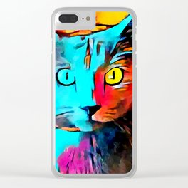 Russian Blue Clear iPhone Case