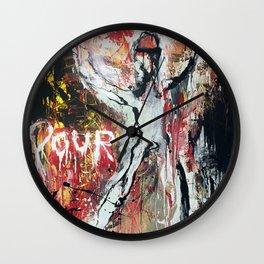Pour Vous Wall Clock