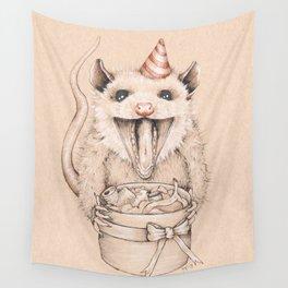 Birthday Possum's Favorite Gift Wall Tapestry