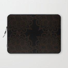 Black Mandala Pattern Laptop Sleeve