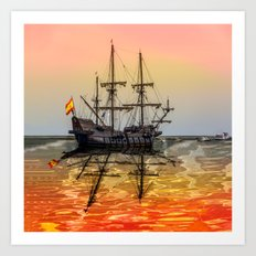 Sail Boston El Galeon Andalucia Art Print