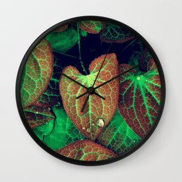 Plant Art, Simply Leaves Wall Clock