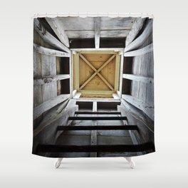 Up the Rung Ladder Shower Curtain