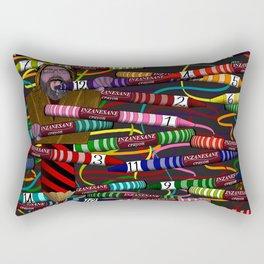 Inzanesane Crayon Stuffffs Rectangular Pillow