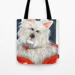 Dog Westie Terrier Original painting Deb Harvey Art Rose Tote Bag