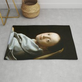 Johannes Vermeer - Portrait of a Young Woman Rug