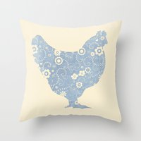 henna Throw Pillows featuring Henrietta's Henna by Farnell
