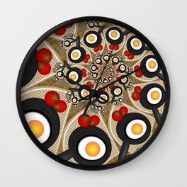 Brunch, Fractal Art Fantasy Wall Clock
