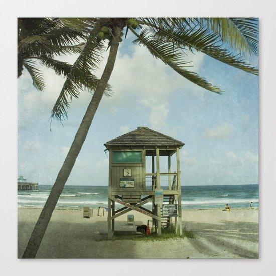 Lifeguard Shack Canvas Print