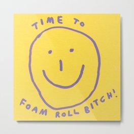 foam roll Metal Print