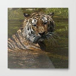 Animal ArtStudio 154156 Tiger Metal Print