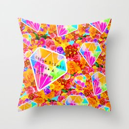 Shine Bright Like A Diamond Collage Throw Pillow