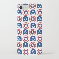 steve rogers iPhone & iPod Cases featuring Steve Rogers by Aya Ghoneim
