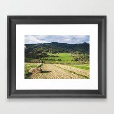 Rural Landscape Poland Framed Art Print