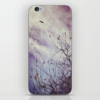 flight iPhone & iPod Skins featuring FLIGHT by ALLY COXON