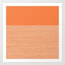 Riverside - Celosia Orange Art Print