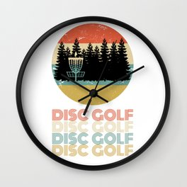 Disc Golf Discgolf Vintage Design Wall Clock