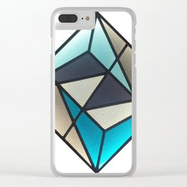 Stained Glass Light Art No.07 Geometric Design Clear iPhone Case