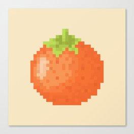 Orange Pixel Art   Animal Villager Canvas Print
