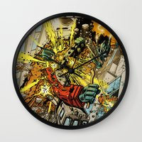 transformers Wall Clocks featuring transformers by Haribow